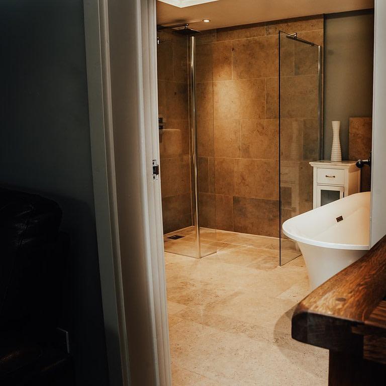 Ensuite shower and bathroom