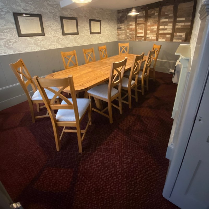 Private Dining Room Table and Charus